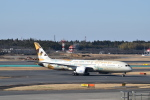 ポークさんが、成田国際空港で撮影したエティハド航空 787-9の航空フォト(飛行機 写真・画像)