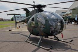 石鎚さんが、霞ヶ浦飛行場で撮影した陸上自衛隊 OH-6Dの航空フォト(飛行機 写真・画像)