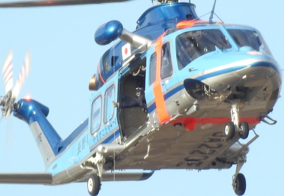おぶりがーどさんの長野県警察 AgustaWestland AW139 (JA220E) 航空フォト