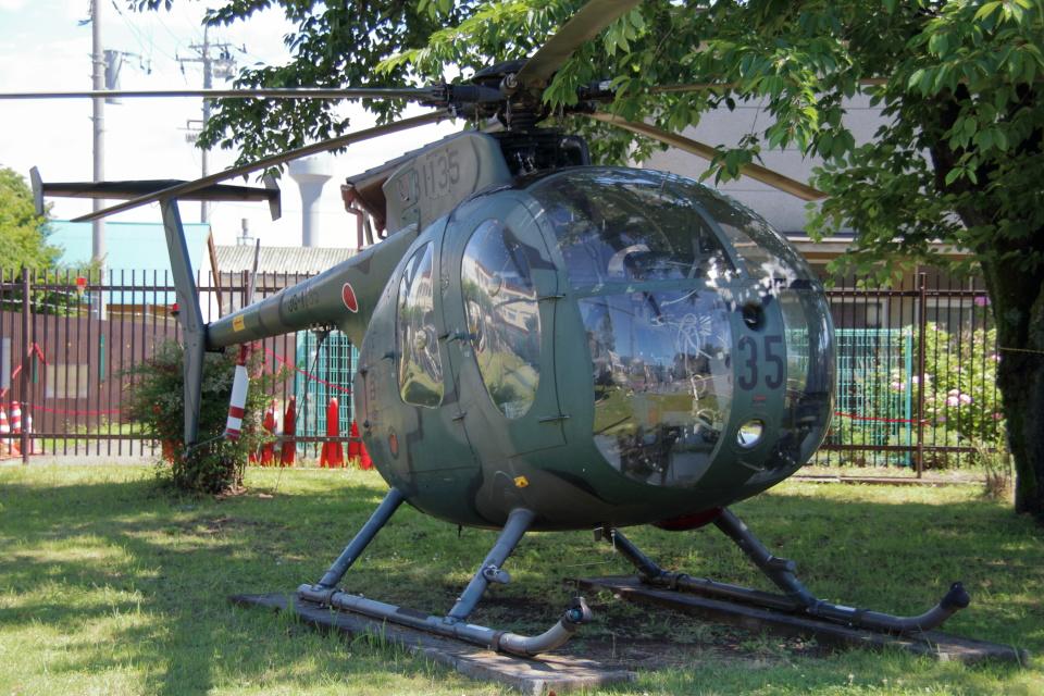 石鎚さんの陸上自衛隊 Kawasaki OH-6D (31135) 航空フォト