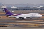 やつはしさんが、羽田空港で撮影したタイ国際航空 747-4D7の航空フォト(飛行機 写真・画像)