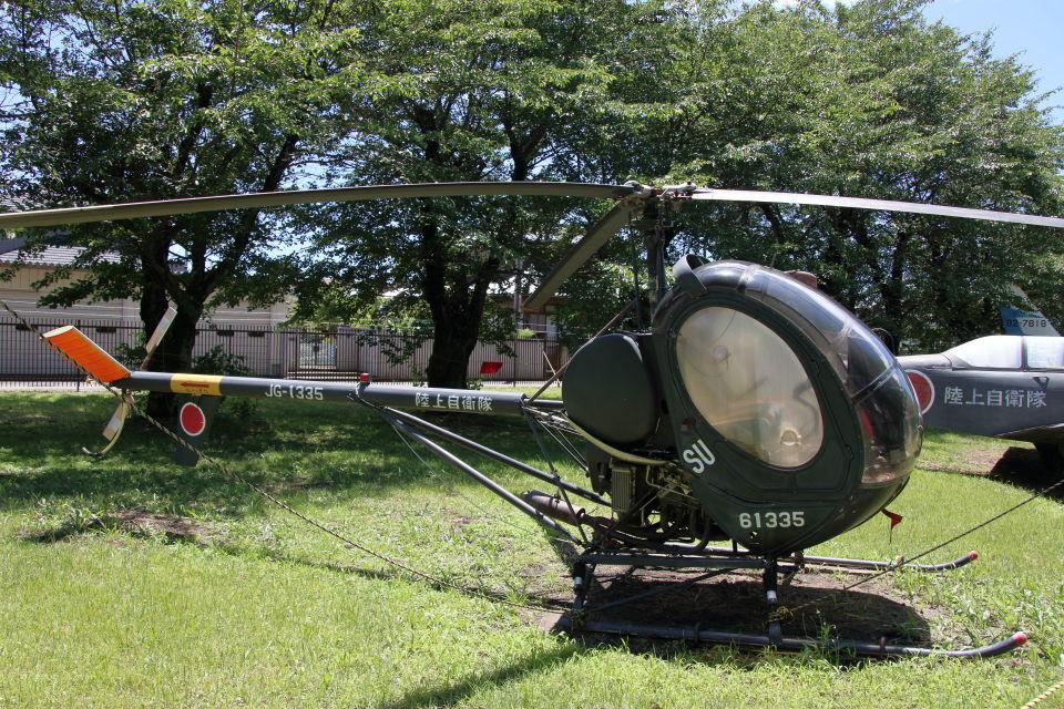 石鎚さんの陸上自衛隊 Kawasaki TH-55 (61335) 航空フォト