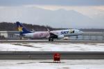 北の熊さんが、新千歳空港で撮影したスカイマーク 737-86Nの航空フォト(飛行機 写真・画像)