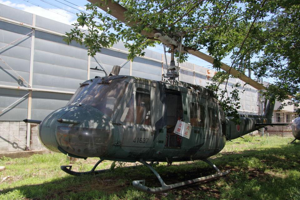 石鎚さんの陸上自衛隊 Fuji UH-1H (41637) 航空フォト