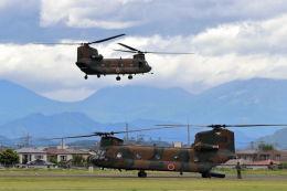 石鎚さんが、宇都宮飛行場で撮影した陸上自衛隊 CH-47Jの航空フォト(飛行機 写真・画像)