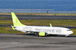 panchiさんが、羽田空港で撮影したソラシド エア 737-81Dの航空フォト(飛行機 写真・画像)