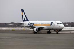 北の熊さんが、新千歳空港で撮影したエアロK A320-214の航空フォト(飛行機 写真・画像)
