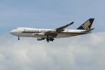 OMAさんが、シンガポール・チャンギ国際空港で撮影したシンガポール航空カーゴ 747-412F/SCDの航空フォト(飛行機 写真・画像)