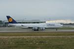 小弦さんが、バンクーバー国際空港で撮影したルフトハンザドイツ航空 747-430の航空フォト(飛行機 写真・画像)