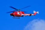 くれないさんが、高松空港で撮影した岡山県消防防災航空隊 412EPの航空フォト(飛行機 写真・画像)