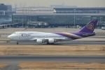 メンチカツさんが、羽田空港で撮影したタイ国際航空 747-4D7の航空フォト(飛行機 写真・画像)