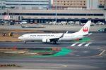 まいけるさんが、羽田空港で撮影した日本トランスオーシャン航空 737-8Q3の航空フォト(飛行機 写真・画像)