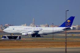KAZKAZさんが、キング・アブドゥルアジズ国際空港で撮影したサウディア 747-4H6の航空フォト(飛行機 写真・画像)