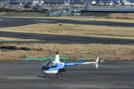 Gambardierさんが、岡南飛行場で撮影した日本個人所有 R22 Betaの航空フォト(飛行機 写真・画像)