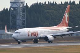 TAK_HND_NRTさんが、成田国際空港で撮影したティーウェイ航空 737-8KNの航空フォト(飛行機 写真・画像)