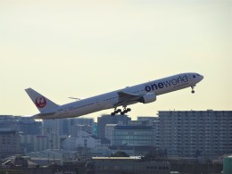 TOY2011さんが、伊丹空港で撮影した日本航空 777-346の航空フォト(飛行機 写真・画像)