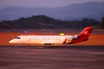 Kuuさんが、鹿児島空港で撮影した尊翔公務航空 CL-600-2B19 Regional Jet CRJ-200ERの航空フォト(飛行機 写真・画像)