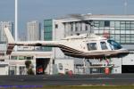 Chofu Spotter Ariaさんが、東京ヘリポートで撮影したヘリサービス 206B-3 JetRanger IIIの航空フォト(飛行機 写真・画像)
