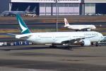 ぼのさんが、羽田空港で撮影したキャセイパシフィック航空 777-367の航空フォト(飛行機 写真・画像)