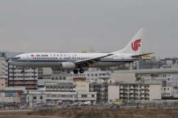 344さんが、福岡空港で撮影した中国国際航空 737-86Nの航空フォト(飛行機 写真・画像)