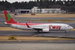 SFJ_capさんが、成田国際空港で撮影したティーウェイ航空 737-8KGの航空フォト(飛行機 写真・画像)