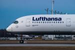 gomaさんが、ミュンヘン・フランツヨーゼフシュトラウス空港で撮影したルフトハンザドイツ航空 A350-941XWBの航空フォト(飛行機 写真・画像)