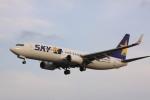 けいとパパさんが、福岡空港で撮影したスカイマーク 737-8FZの航空フォト(飛行機 写真・画像)