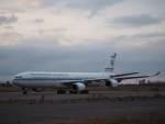 たにしさんが、新千歳空港で撮影したクウェート政府 A340-542の航空フォト(飛行機 写真・画像)