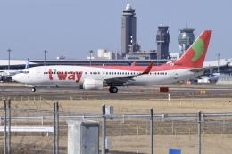 Timothyさんが、成田国際空港で撮影したティーウェイ航空 737-8KGの航空フォト(飛行機 写真・画像)