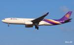 RINA-281さんが、小松空港で撮影したタイ国際航空 A330-343Xの航空フォト(飛行機 写真・画像)