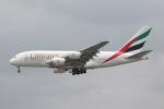 だいすけさんが、スワンナプーム国際空港で撮影したエミレーツ航空 A380-861の航空フォト(飛行機 写真・画像)