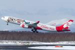 Snowman☃️さんが、新千歳空港で撮影したエアアジア・エックス A330-343Xの航空フォト(飛行機 写真・画像)