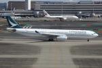 sky-spotterさんが、羽田空港で撮影したキャセイパシフィック航空 A330-343Xの航空フォト(飛行機 写真・画像)
