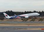 銀苺さんが、成田国際空港で撮影したマレーシア航空 A350-941XWBの航空フォト(飛行機 写真・画像)