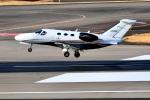 くれないさんが、高松空港で撮影した岡山航空 510 Citation Mustangの航空フォト(飛行機 写真・画像)