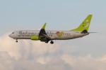 Koenig117さんが、那覇空港で撮影したソラシド エア 737-81Dの航空フォト(飛行機 写真・画像)