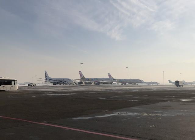 アルマトイ国際空港 - Almaty International Airport [ALA/UAAA]で撮影されたアルマトイ国際空港 - Almaty International Airport [ALA/UAAA]の航空機写真(フォト・画像)