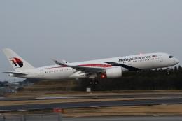木人さんが、成田国際空港で撮影したマレーシア航空 A350-941の航空フォト(飛行機 写真・画像)