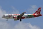 ★azusa★さんが、シンガポール・チャンギ国際空港で撮影したインドネシア・エアアジア A320-216の航空フォト(飛行機 写真・画像)
