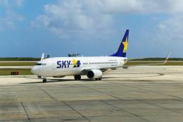 サイパンだ!さんが、サイパン国際空港で撮影したスカイマーク 737-8HXの航空フォト(飛行機 写真・画像)