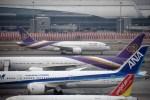 よんすけさんが、スワンナプーム国際空港で撮影したタイ国際航空 787-8 Dreamlinerの航空フォト(飛行機 写真・画像)