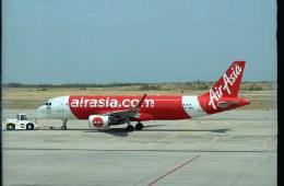 よんすけさんが、マンダレー国際空港で撮影したタイ・エアアジア A320-216の航空フォト(飛行機 写真・画像)
