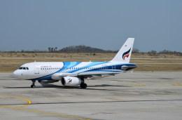 よんすけさんが、マンダレー国際空港で撮影したバンコクエアウェイズ A319-132の航空フォト(飛行機 写真・画像)