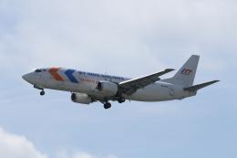 ☆ゆっきー☆さんが、シンガポール・チャンギ国際空港で撮影したマイ・インド・エアラインズ 737-4B7(SF)の航空フォト(飛行機 写真・画像)