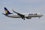 キイロイトリさんが、福岡空港で撮影したスカイマーク 737-8FZの航空フォト(飛行機 写真・画像)