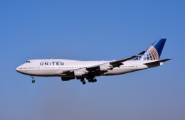 キットカットさんが、成田国際空港で撮影したユナイテッド航空 747-422の航空フォト(飛行機 写真・画像)