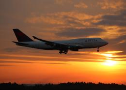 銀苺さんが、成田国際空港で撮影したデルタ航空 747-451の航空フォト(飛行機 写真・画像)