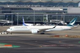 sky-spotterさんが、羽田空港で撮影したキャセイパシフィック航空 A350-1041の航空フォト(飛行機 写真・画像)