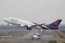 だいすけさんが、スワンナプーム国際空港で撮影したタイ国際航空 747-4D7の航空フォト(飛行機 写真・画像)