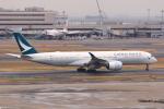 やつはしさんが、羽田空港で撮影したキャセイパシフィック航空 A350-941の航空フォト(飛行機 写真・画像)